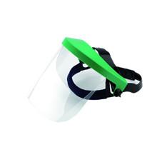Víztiszta látómező és homlokvédős arcvédő keret, zöld