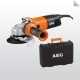 AEG 900 W egykezes sarokcsiszoló, 125 mm szett WS 9-125 set