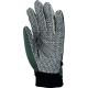 132160-as kertészkesztyű, vinyllel impregnált  pamut tenyér PVC pöttyökkel, rugalmas Spandex kézhát, tépőzáras csukló