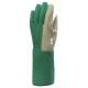 132478-80-as kertészkesztyű, vinyllel impregnált  pamut tenyér, gumis pamut kézhát és 15 cm hosszú mandzsetta  (zöld/szürke)
