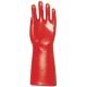 3641-es mártott VC  kesztyű light 40 cm-es, piros, gazdaságos védőkesztyű