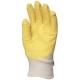 3800-a Mártott, érdesített latex kesztyű  Sárga krepp latex vágásbiztos, csúszásgátló, szellőző hátú