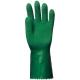 3815-ös Végig mártott,érdesített latex kesztyű  zöld, vágásbiztos, csúszásgátló, erősített latex, 32cm