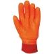 3929-es PVC fluo kesztyű  bélelt, gumírozott mandzsetta, antibakteriális Actifresh® kiképzéssel