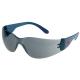 Classic füstszínű, karc- és páramentes polikarbonát lencse, oldalvédős kék szár
