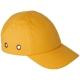 Baseballsapka  beépített protektorral, fejbeütődés ellen, sárga színben