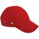 Baseballsapka  beépített protektorral, fejbeütődés ellen, piros színben