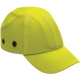 Baseballsapka  beépített protektorral, fejbeütődés ellen, fluo sárga színben