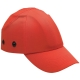 Baseballsapka  beépített protektorral, fejbeütődés ellen, fluo narancs színben