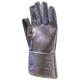 59890-e 28cm-es alumínizált kesztyű aramid belső, kontakt+sugárzó hő-, láng-, olvadt fém ellen