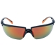 Solus piros tükrös lencse, sisakkal, fültokkal viselhető fekete/narancs szár