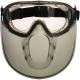 Stormlux, gumipántos, páramentes védőszemüveg arcvédővel