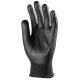 5-ös vágásálló, kopásbiztos, rugalmas Taeki® kesztyű, mikro habosított vízbázisú fekete PU tenyérrel