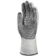 5-ös vágásálló, kopásbiztos, rugalmas és hőálló Taeki5® kesztyű fekete pöttyökkel