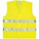 Fluo jól láthatósági mellény keresztcsíkos, sárga