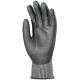 5-ös szinten vágásálló, kopásbiztos Taeki5® védőkesztyű fekete PU mártással, i-touch technológia