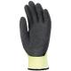 5-ös szinten vágásálló, sárga Taeki5® védőkesztyű fekete érdesített latex mártással rezgéscsillapító betéttel