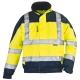 AIRPORT sárga/kék szellőző Breathane® dzseki, vízhatlan, lélegző Oxford PE/PU külső, 180 g/m2 poliészter meleg bélés