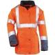 AIRPORT LADY narancs/kék Breathane® női kabát, gumizott derék, bővíthető alj