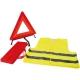 Közúti szett: jól láthatósági mellény + elakadásjelző háromszög, hordtáskában