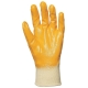 9307-10-es Eurodex sárga nitril kesztyű  ökölcsontig mártott, szellőző hátú, gumis mandzsettával, Actifresh®