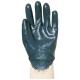 9407-10-es Eurolité szellőző hátú kék nitril kesztyű  ökölcsontig mártott, gumis mandzsettával, Actifresh®
