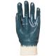 9438-40-es Eurolité kézháton is mártott kék nitril kesztyű  gumis mandzsettával, Actifresh®