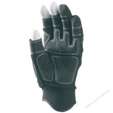 3 ujján ujjvég nélküli sofőrkesztyű, szintetikus bőr (PA/PU), belső párnázat, állítható csukló
