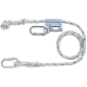 Lock szett: 2 m munkahelyzet-beállító, fonott kötél, hossz-szabályzó, 2 csavaros karabiner