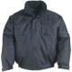 BOUND fekete dzseki, dupla 600D Oxford poliészter külső, 190T selymes taft belső, 160 g/m2 hőszigetelő poliészter közti bélés