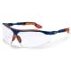 I-VO kék/narancs keret, párnázott orr, homlok és fül, karc- és páramentes víztiszta lencse (HC-AF)