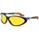 Cybric sportszemüveg állítható szárral, széles látóterű, karcmentes, sárga lencsével (NC)