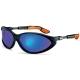 Cybric sportszemüveg állítható szögű, -hosszúságú, párnázott végű szárral, tükrös kék lencsével (NC)