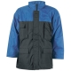 CONNEMARA sötét-/királykék vízhatlan kabát, vízhatvan PVC-vel mártott 100% poliamid, 180g/m2 poliészter bélés
