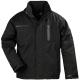 CASUAL Yang Winter fekete, szakadásbiztos, polárbéléses softshell kabát, lélegző, vízhatlan