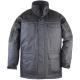 RIPSTOP  sötétkék/fekete kabát, PVC-vel vízhatlanított poliészter, 280g/m2 polárbélés