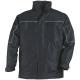 RIPSTOP  fekete kabát, szakadásbiztos anyag, polárbélés