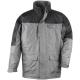 RIPSTOP  szürke/fekete kabát, PVC-vel vízhatlanított poliészter, 280g/m2 polárbélés