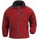 ANGARA  piros cipzáros pulóver, vastag 450 g/m2-es mikropolár
