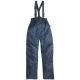 FINEK  kék deréknadrág, vállpánttal, PVC-vel vízhatlanított poliészter, 180 g/m2 poliészter bélés