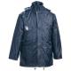 FLOPP kék, vízhatlan, kapucnis kabát, PVC-vel vízhatlanított poliészter, 180g/m2 poliészter bélés