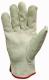 Borjúbőr kesztyű, artéria-ökölcsont védő, pamut kézhát