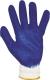 2229 Kék latex-szel mártott cérnakesztyű, csúszásmentes tenyér női méret 8-as