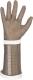 2257 Ötujjas fémgyűrűs lánckesztyű alkarvédővel, ötféle méretben