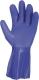 2276 Pamutra mártott kék PVC kesztyű, mikroorganizmusok elleni védelem 10-es méretben