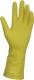 2287 Tip háztartási gumikesztyű, latex, sárga, 0,45 mm vastagságú