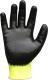 Három szálas jó láthatósági kötött kesztyű, kézháton beütődés elleni protektor