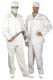 4606 Élelmiszeripari derekas nadrág, hátul gumírozott derék, fehér, 50-50% kevert szálas anyagból