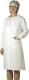 4622 Normál fehér női köpeny gombos kivitelben