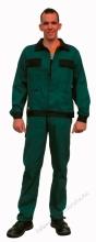 Classic Derekas nadrág, szanforizált 260 gr 100% pamut, kopásálló zöld színben